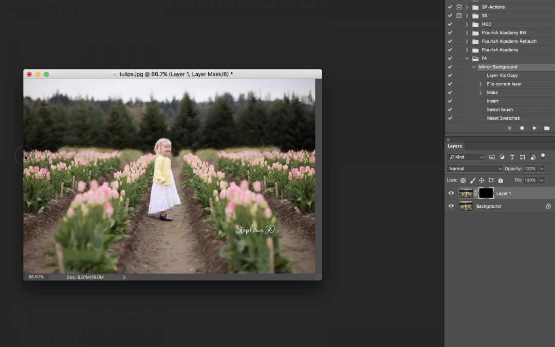 [FREE ACTION] Mirror a Background in Photoshop