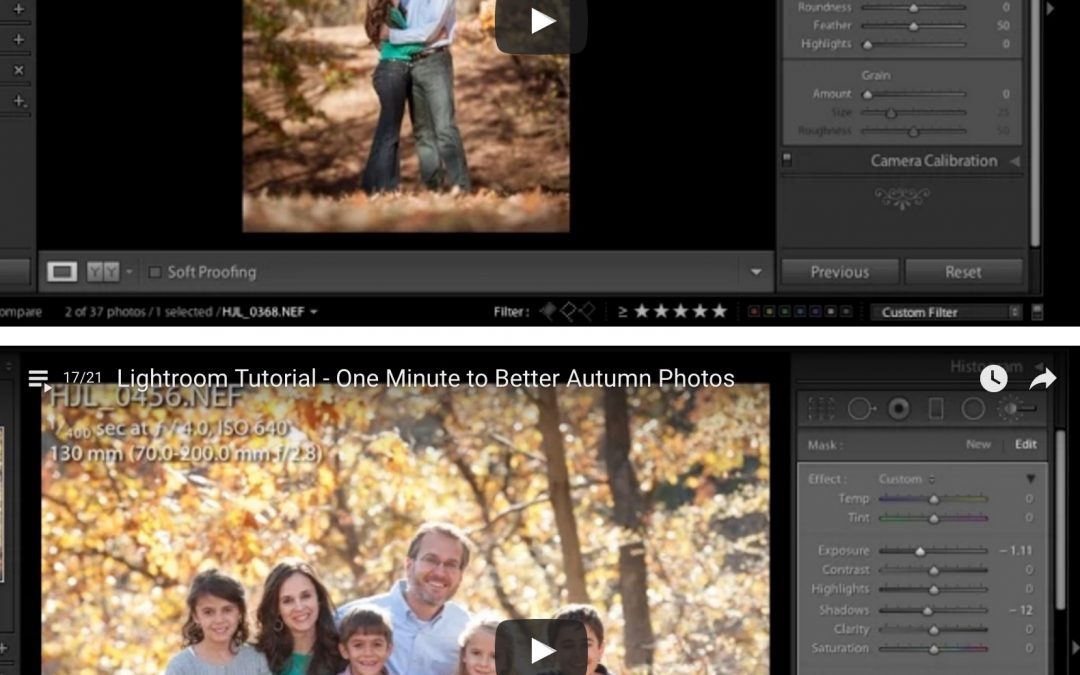 One Minute to Better Autumn Photos Using Lightroom