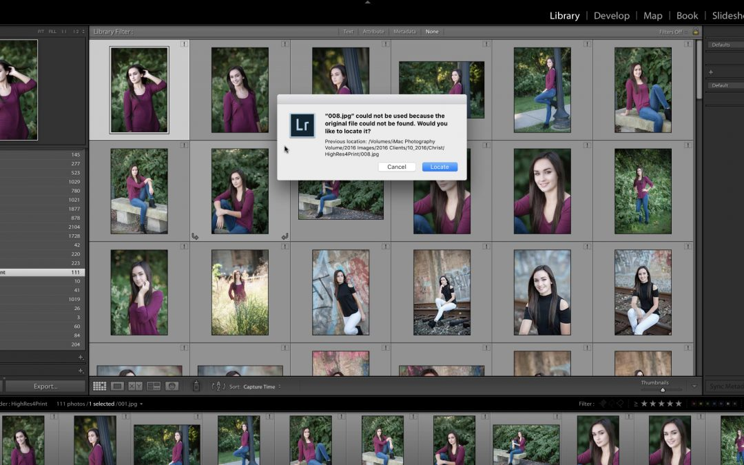 Help! Lightroom Can't Find my Photos!