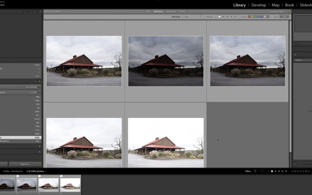 Exposure Bracketing and HDR in Lightroom