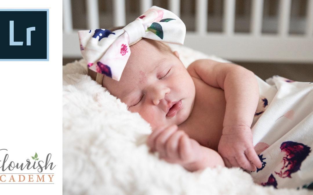 How to Soften Newborn Skin in Lightroom